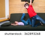 brother and sister  wearing... | Shutterstock . vector #362893268