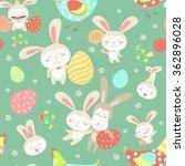 easter cartoon seamless pattern | Shutterstock .eps vector #362896028