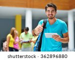 happy students group study in... | Shutterstock . vector #362896880