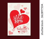 valentine's day sale | Shutterstock .eps vector #362897534