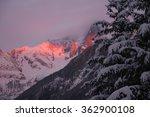 winter landscape. alps. the...