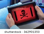 man with tablet at home... | Shutterstock . vector #362901353