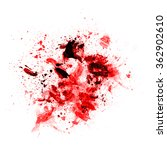 blood on a white background... | Shutterstock . vector #362902610