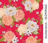 beautiful seamless floral... | Shutterstock .eps vector #362909060