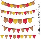 pennant   bunting set   vector... | Shutterstock .eps vector #362910176