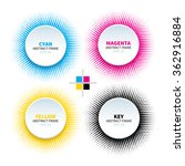 set of 4 abstract circle frame...   Shutterstock .eps vector #362916884