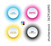 set of 4 abstract circle frame... | Shutterstock .eps vector #362916890