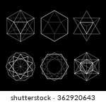 hexagonal shapes set. crystal... | Shutterstock .eps vector #362920643