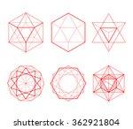 hexagonal shapes set. crystal... | Shutterstock .eps vector #362921804