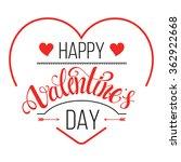 valentines day vintage label | Shutterstock .eps vector #362922668