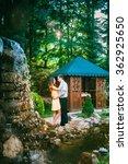 loving boy and girl standing... | Shutterstock . vector #362925650