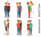boys and girls  couple in love. ... | Shutterstock .eps vector #362927264