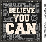 believe you can. creative... | Shutterstock .eps vector #362935940