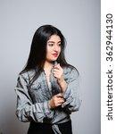 eastern brunette girl... | Shutterstock . vector #362944130