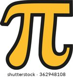 yellow pi symbol with black...
