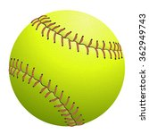 Softball Isolated On White....