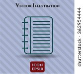 note book vector icon   Shutterstock .eps vector #362954444