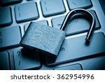 unlock security lock on... | Shutterstock . vector #362954996