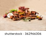 indian essential spices in... | Shutterstock . vector #362966306
