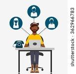 call center design  | Shutterstock .eps vector #362966783