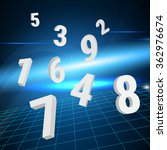 numerology. influence of... | Shutterstock .eps vector #362976674