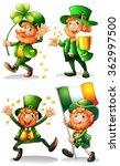 leprechaun with green leaves... | Shutterstock .eps vector #362997500