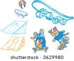 sketchy skater set vector