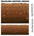 seamless underground with... | Shutterstock .eps vector #362999579