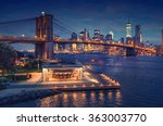 new york brooklyn bridge... | Shutterstock . vector #363003770