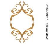 premium gold vintage baroque... | Shutterstock .eps vector #363004010