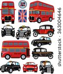 london bus and car. the english ... | Shutterstock .eps vector #363004646
