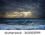 Dark Clouds Over Stormy Sea...