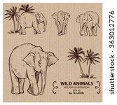 elephants  wild animals  hand...   Shutterstock .eps vector #363012776