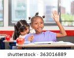 raising hand at primary school. ... | Shutterstock . vector #363016889