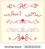 set of valentine decoration... | Shutterstock .eps vector #363020333