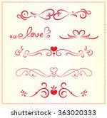 set of valentine decoration...   Shutterstock .eps vector #363020333