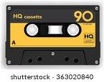 Audio Cassette Tape Isolated