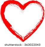 set of hearts . grunge stamps... | Shutterstock .eps vector #363022043