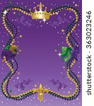 mardi gras background | Shutterstock .eps vector #363023246