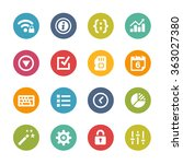 web and mobile icons 4    fresh ... | Shutterstock .eps vector #363027380
