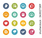 web and mobile icons 8    fresh ... | Shutterstock .eps vector #363027389