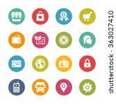 online store icons    fresh... | Shutterstock .eps vector #363027410