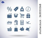 shopping icons | Shutterstock .eps vector #363033368