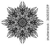 vector stylish floral arabic... | Shutterstock .eps vector #363035159