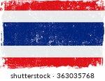 thailand vector grunge flag... | Shutterstock .eps vector #363035768