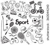 doodle sport set | Shutterstock . vector #363044240