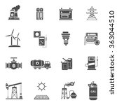 energy power black icons set  | Shutterstock . vector #363044510