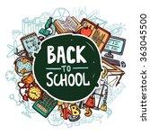 back to school concept | Shutterstock . vector #363045500