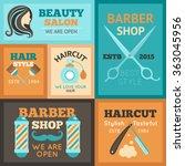 hairdress poster set | Shutterstock . vector #363045956
