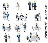 business coaching icons set  | Shutterstock . vector #363045989